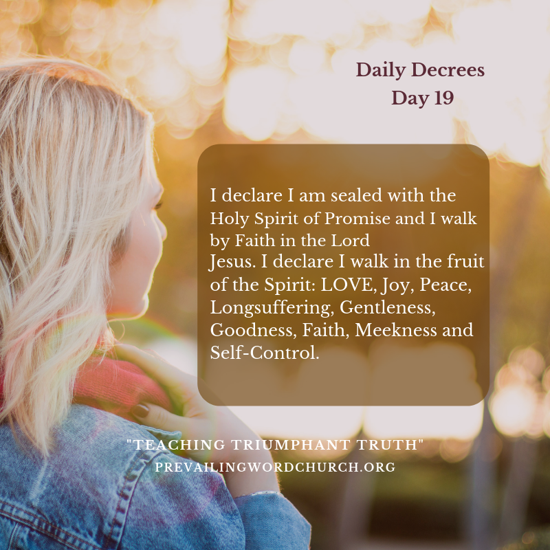 Daily Decrees 19